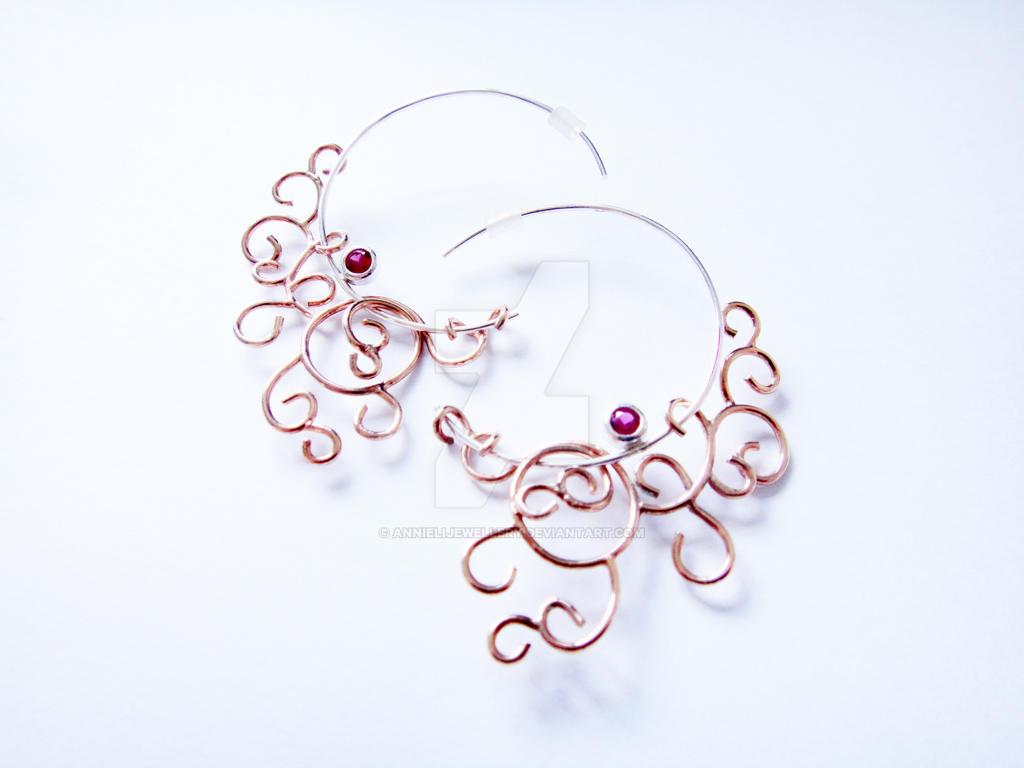 Wedding Commission #1: Filigree Earrings by annielijewellery