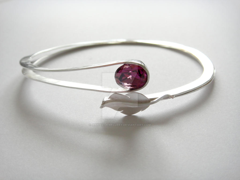 Wedding Commision #1: Feather Arm Cuff by annielijewellery