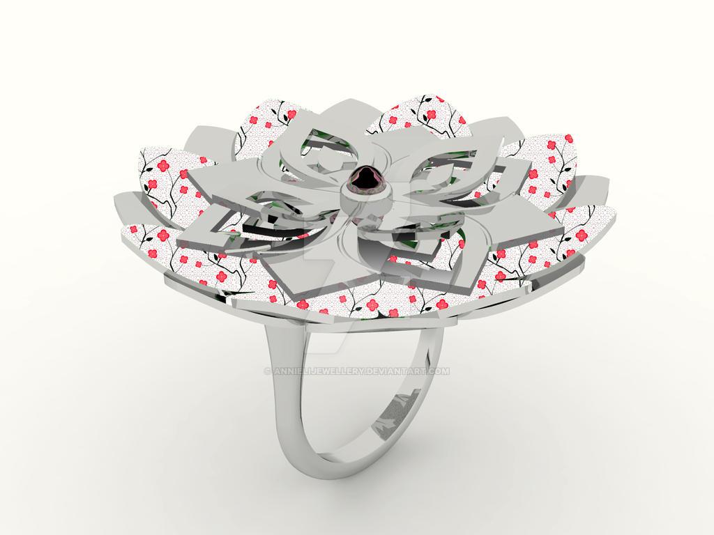 Kirie Ring: Hydrangea by annielijewellery