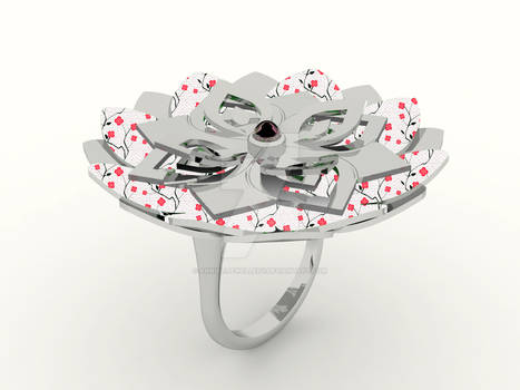 Kirie Ring: Hydrangea