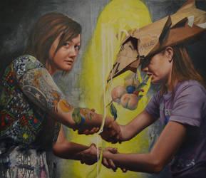 Jason John, Fissure, Oil and Wax on Linen by broadstreetstudio