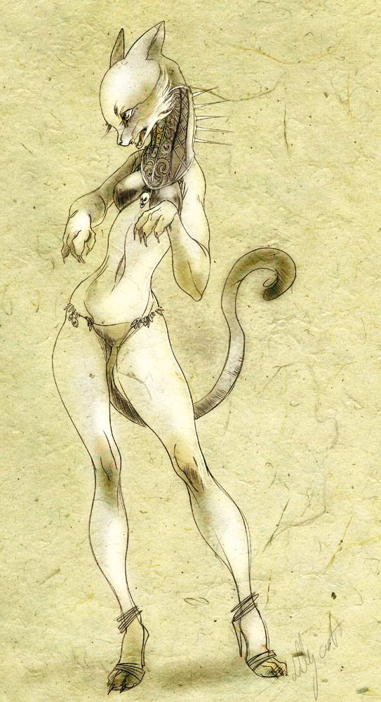 cat by Cerisedolls