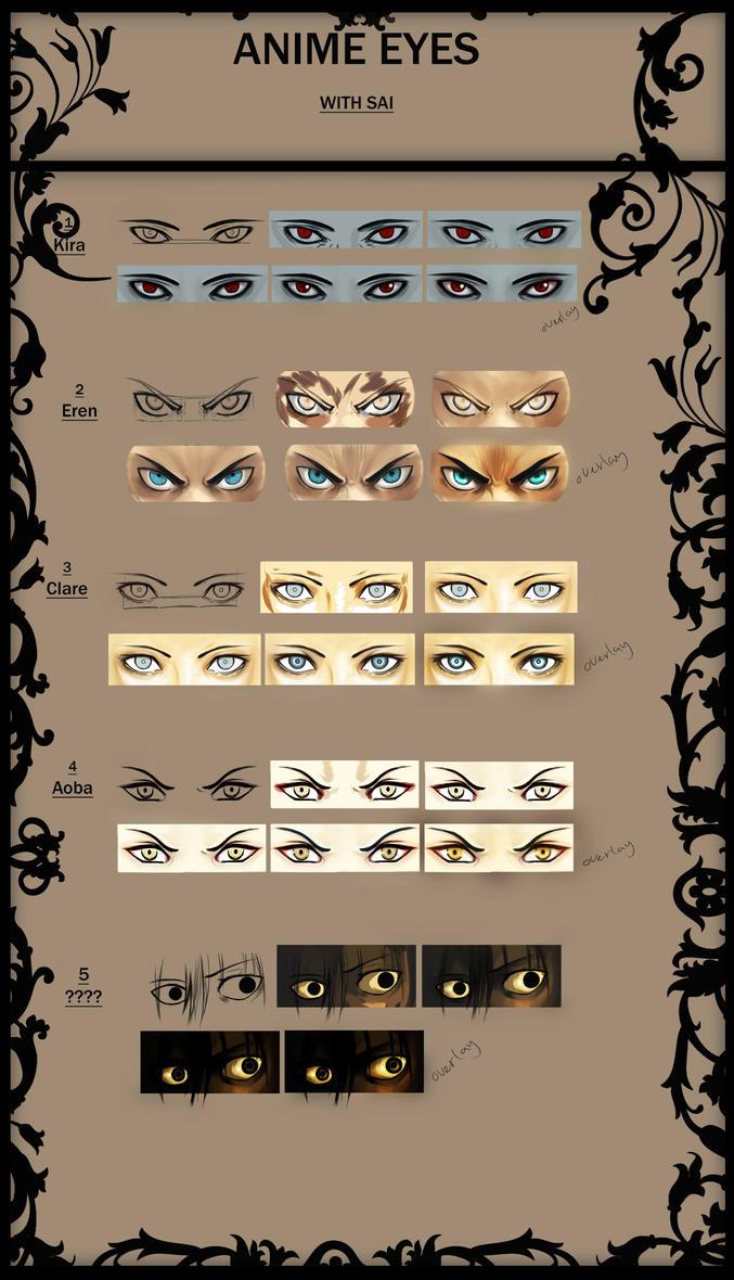 Anime Eyes tutorial! by DayonXVIII