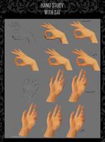 Hand study / tutorial by DayonXVIII