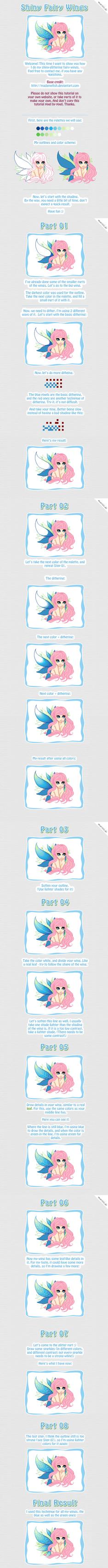 Shiny faery wings -  TUTORIAL by mariiiis-dolls