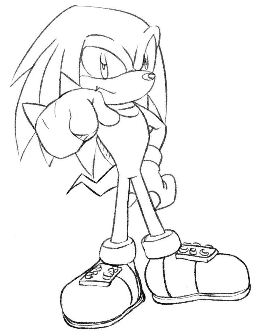 knuckles the echidna coloring pages - photo#26