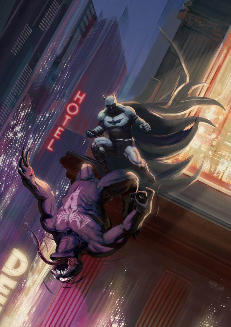 Batman vs Venom by HerCar