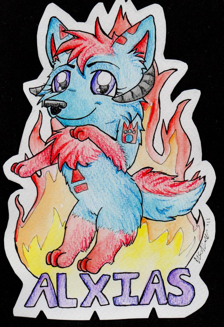 Alxias Chibi Badge by sporkyd00m