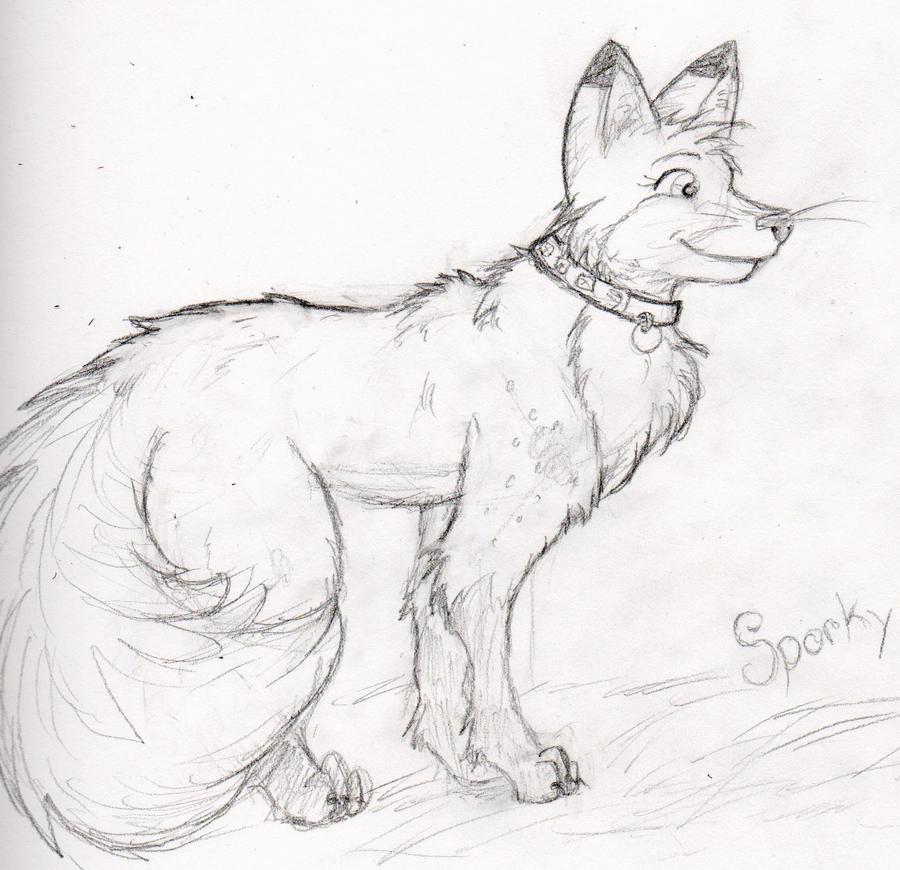 Feral Sporky Sketch by sporkyd00m