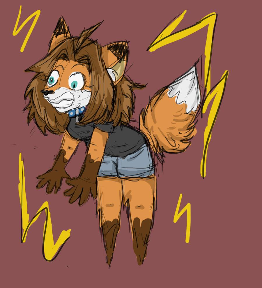 Anxiety Fox by sporkyd00m