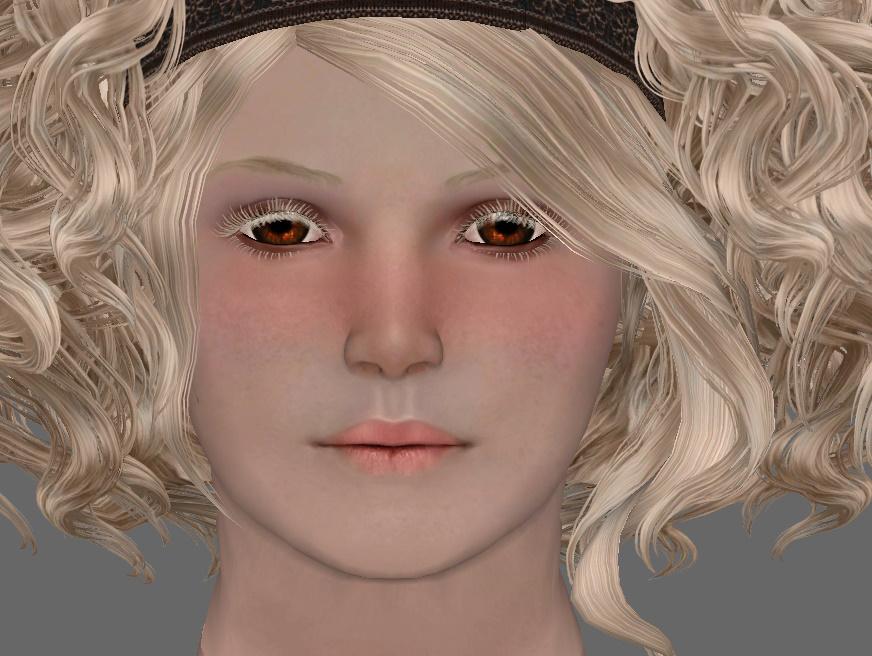 TES 4 Oblivion - FF head texture WIP by chakaru on DeviantArt