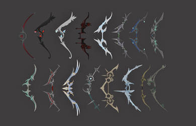 TES4 Oblivion Mod WIP: Dark Avenger 3 Bows (Luna)