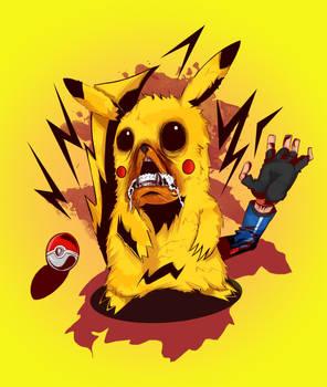 Pikachu Angrily