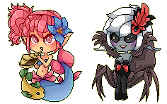 Mermaid and Arachne by SugarPip