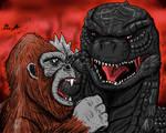 Godzilla vs Kong (colored)