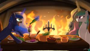 A Queen's Supper by LunarCakez