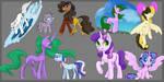 Pony Sketches 1 by Shaslan