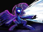 Princess Luna magic glowing eyes
