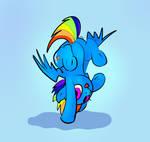 Rainbow Dash Break Dance, handstand