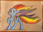 Rainbow Power version Rainbow Dash, pencil