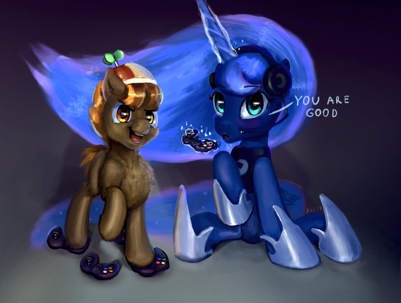 Best Equestria Gamers - Button Mash and Gamer Luna