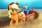 Applejack's cargo is loaded with sweet things