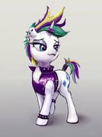 Rarity Punk pony by xbi