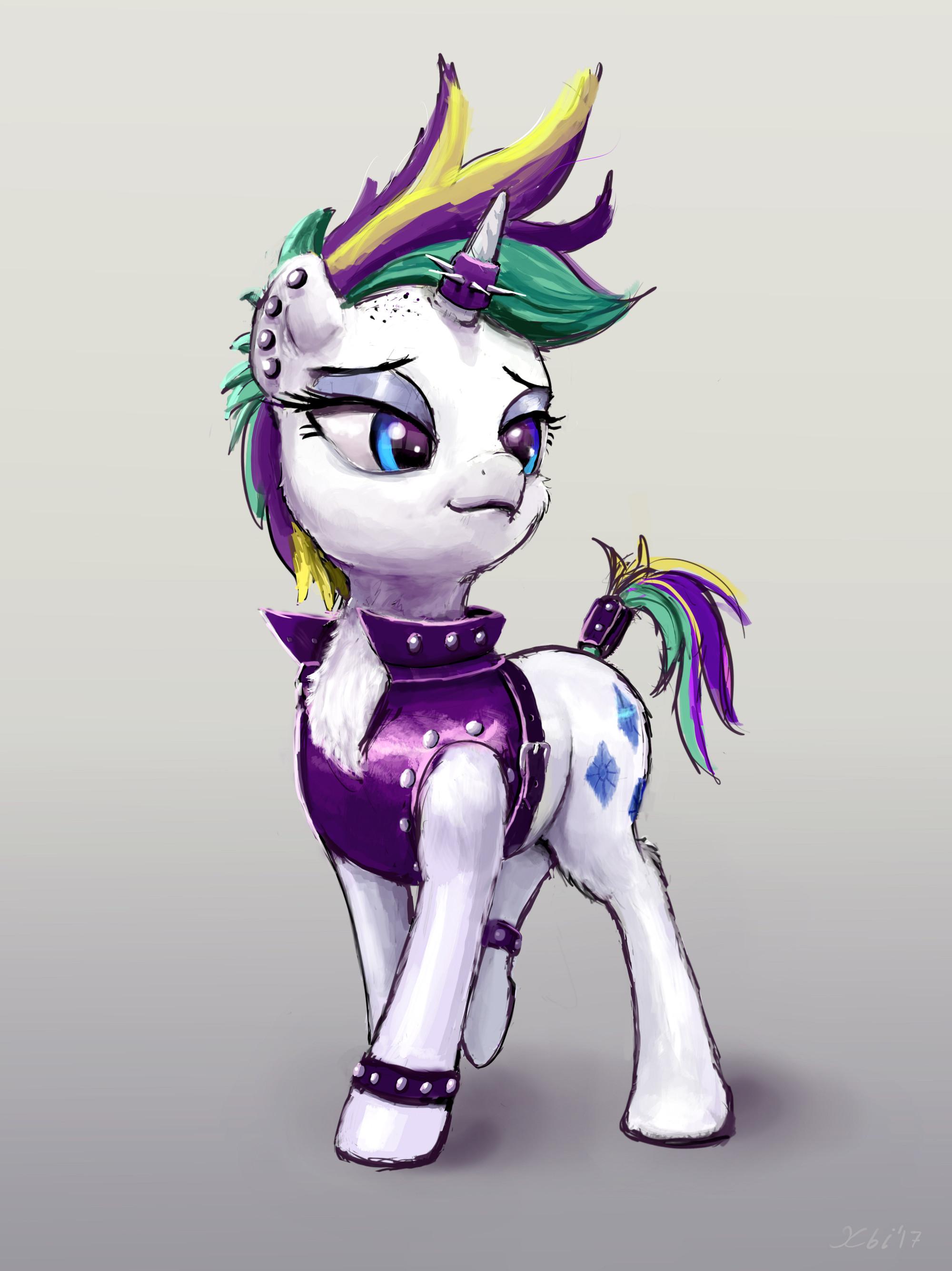 Rarity Punk pony by xbi on DeviantArt