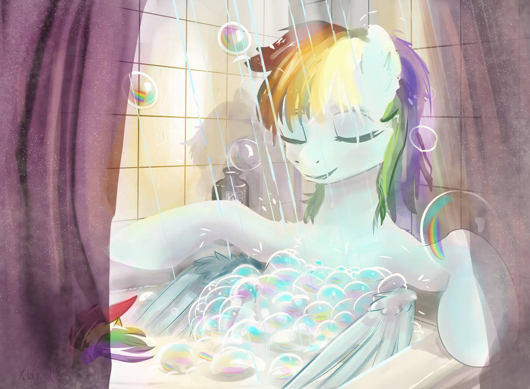 Rainbow Bath by xbi