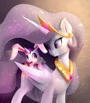 Bunnycorn pony with his mother