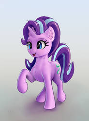 cute Starlight Glimmer  with raised foreleg by xbi