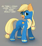 Adorable Applejack wonderbolt wants to fly