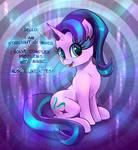 Starlight Glimmer talks about herself.