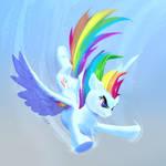 Rainbow Dash is Flying
