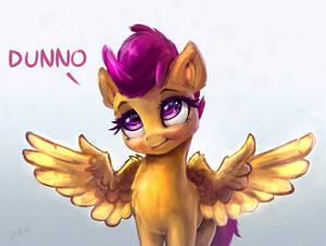 Pony Scootaloo Wing Shrug Dunno