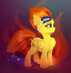 Spitfire pony with taken off wonderbolt suit