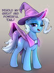 Trixie presents her tail