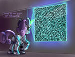 Sweetie Bot qr code fractal program art