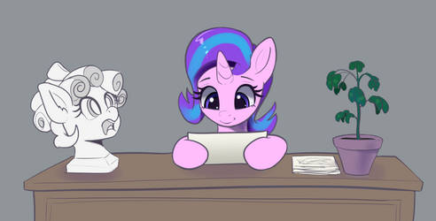 Starlight Glimmer and Cozy Glow bust