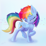 Rainbow Dash looks gorgeous