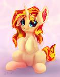 Sunset Shimmer, cute pony unicorn