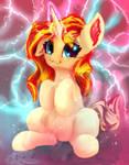 Sunset Shimmer, magical pony unicorn