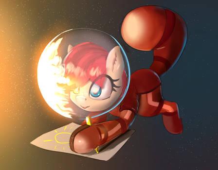 pony Rusty Gears is drawing sun in space