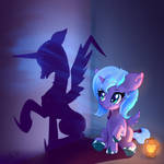 Little filly princess Luna and her shadow