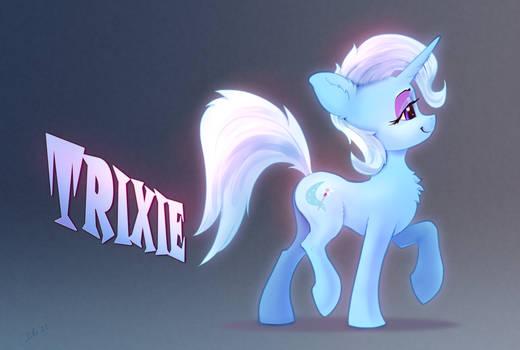 pony Trixie, side view