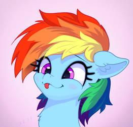 Rainbow Dash Tongue Out Cute Portrait :P