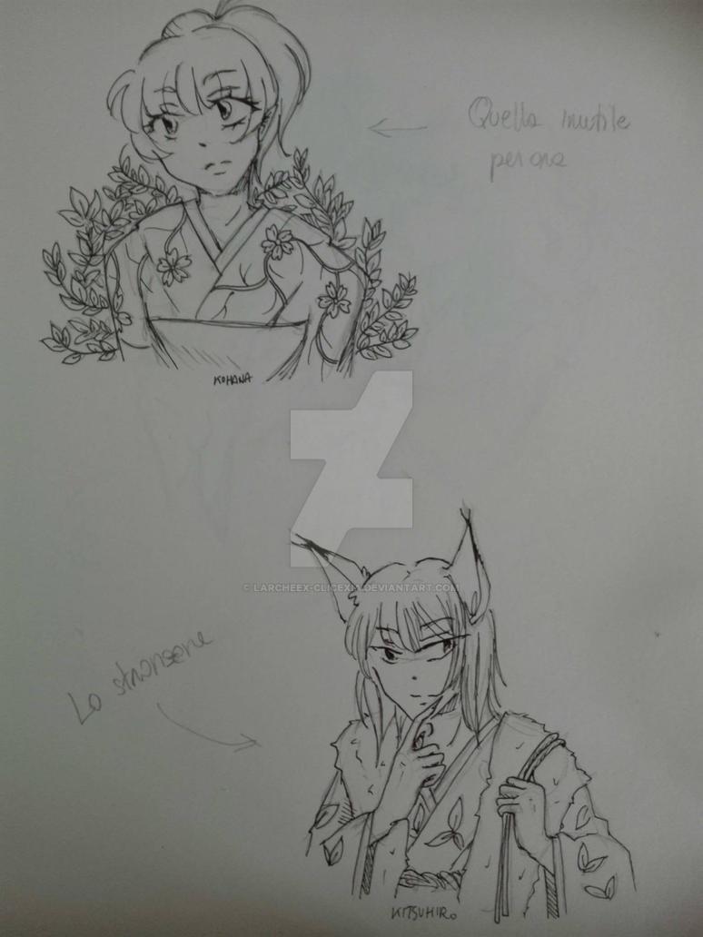 Kohana e Kitsuhiro by Larcheex-Clicexia