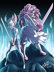 Rose-pearl Battle by Keino-Evans