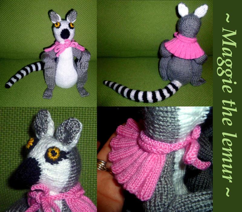 Amigurumi Nurse Free Pattern : Maggie, lemur amigurumi by KnitLizzy on DeviantArt