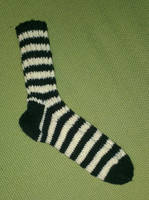 Simple striped wool socks by KnitLizzy